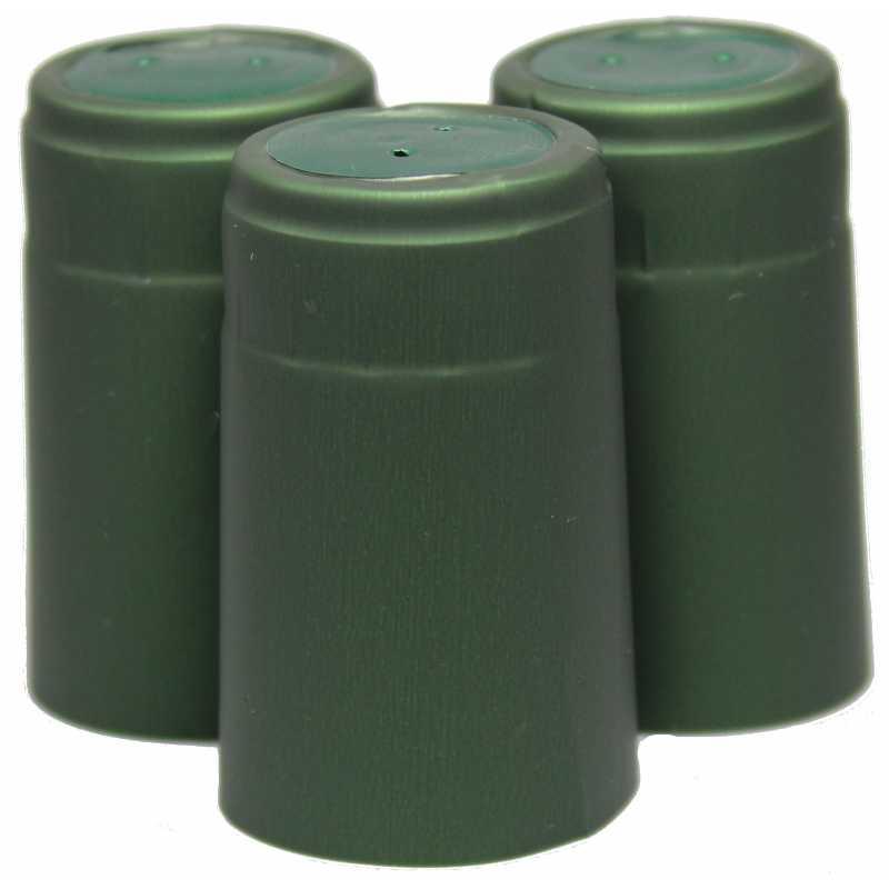 Krympehætte til vinflasker grøn hat